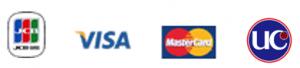 対応クレジットカード種別:Master、JCB、VISA、UC、AMEX
